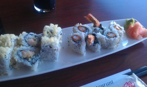 Spicy Ebi Fray Roll and a Kamikaze Roll