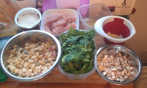 Here is all of my ingredients prepped and ready to go.