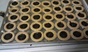 Finished tarts after being in the 350 F oven for approx. 30 mins.