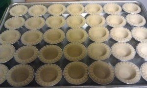 Pre-made mini tart shells courtesy of Tenderflake.