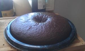 Finished cake.