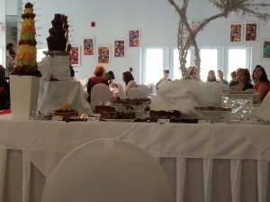 This shot is only half of the buffet table as seen from my seat.