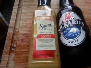 The Daring Duo - Sauza Tequlia Sunrise Marinade and Rickard's White.